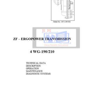 ZF Transmission 4 WG-190210 Repair Manual