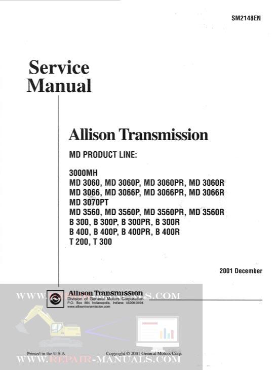 Allison Transmissions SM2148EN1