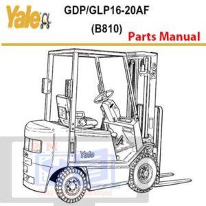 Yale Forklift B810 GDP_GLP16-20AF Parts Manual