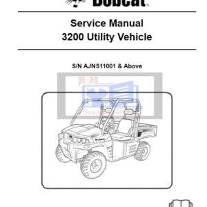 Bobcat 3200 Utility Vehicle Service Repair Manual