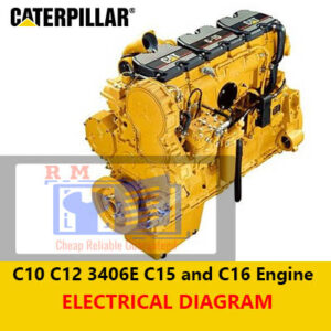 Caterpillar C10 C12 3406E C15 and C16 Highway Engine Electrical System Diagram