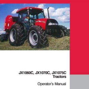 Case IH Tractor JX1060 JX1070 Series Operator's Manual
