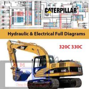 Caterpillar 320C, 330C Excavator Hydraulic & Electrical Full Diagrams