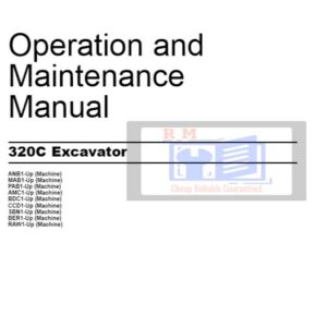 Caterpillar 320C Excavator Excerpt Operation and Maintenance Manual
