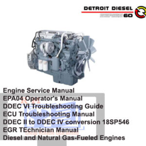 Detroit Diesel series 60 Full Set of Manuals Collection