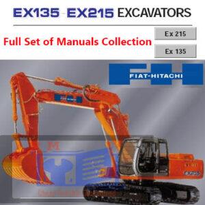 Fiat Hitachi Excavator EX135 EX215 Full Set of Manuals Collection