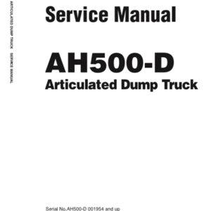Hitachi AH500D Articulated Dump Workshop Manual