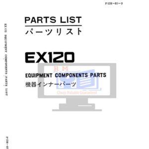 Hitachi EX120-1 Hydraulic Excavator Parts Manual