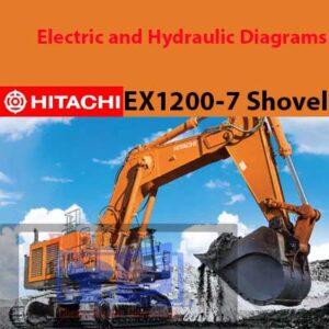 Hitachi EX1200-7 Shovel Electric and Hydraulic Diagrams