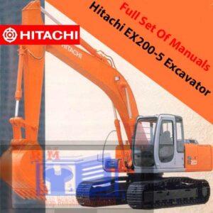 Hitachi EX200-5 Excavator Full Set Of Manuals