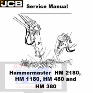 JCB Hammermaster HM 2180 HM 1180 HM 480 HM 380 Service Repair Manual