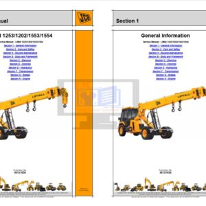 JCB Liftall 1253,1202,1553,1554 Service Repair Manual