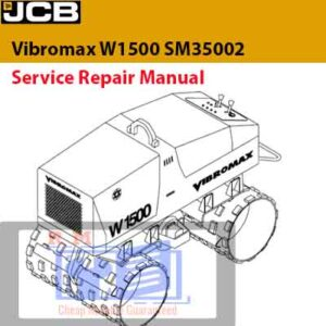 JCB Vibromax W1500 SM35002 TRENCH ROLLER Service Repair Manual