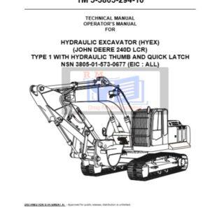 John Deere 240D LC Excavator Technical Manual