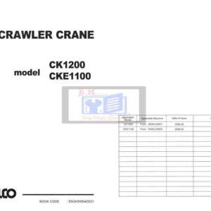 Kobelco CKE1100 CK1200 Crawler Crane Workshop Manual