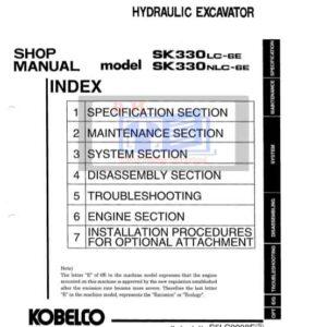 Kobelco SK330LC-6E, SK330NLC-6E Workshop Manual