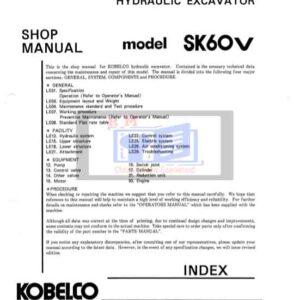 Kobelco SK60V (Mark5) Excavator Workshop Manual