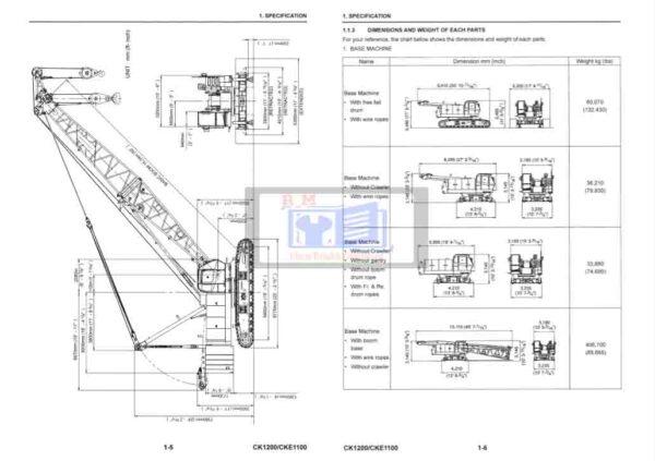 KobelcoCrane CK1200 Workshop Manual
