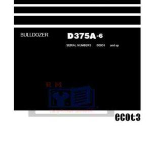 Komatsu Bulldozer D375A-6 Workshop Manual