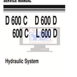 Komatsu Bulldozer D600C, D600D, 600C, L600D Hydraulic System