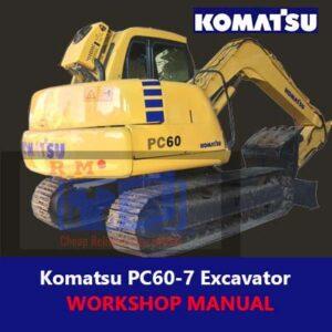 Komatsu PC60-7 Excavator Workshop Manual
