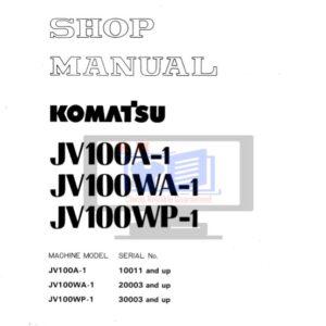 Komatsu Road Roller JV100A-1, JV100WA-1, JV100WP-1 Workshop Manual