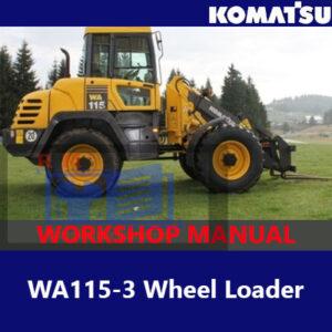 Komatsu WA115-3 Wheel Loader Workshop Manual