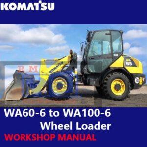 Komatsu WA65-6 to WA100-6 Wheel Loader Workshop Manual