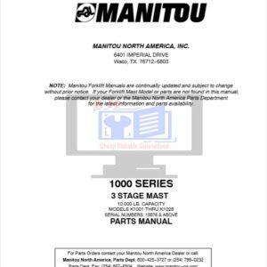 Manitou 1000 Series Parts Manual