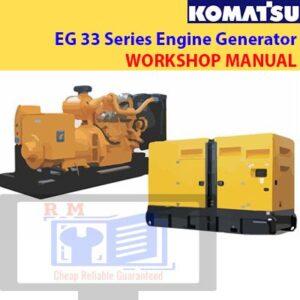 Komatsu EG33 Series Engine Generator Shop Manual