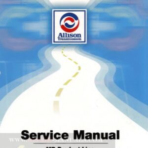 Allison MD Product Line Service Repair Manual