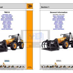 JCB Agricultural Teletruks TM310, TM310S, TM310WM, TM320 Service Manual