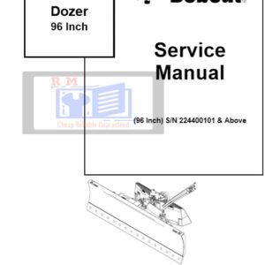 Bobcat 96 Inch Dozer Service Repair Manual