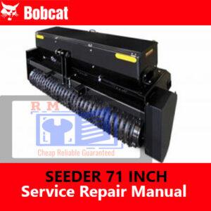 Bobcat Seeder 72 Inch Service Repair Manual
