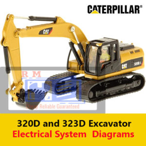Caterpillar 320D and 323D Excavator Electrical System Diagram