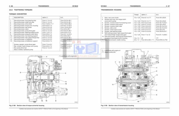 DC180.B Crawler Dozer Service Manual