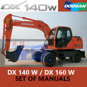 Doosan DX140W, DX160W Wheeled Excavator Manuals Collection