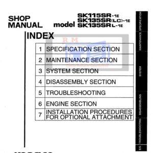 Kobelco Excavator SK115SR-1E, SK135SR(LC)-1E, SK135SL-1E Workshop Manual