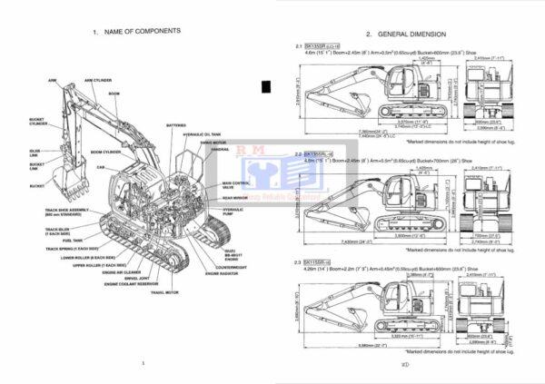 Kobelco Excavator SK115SR Workshop Manual