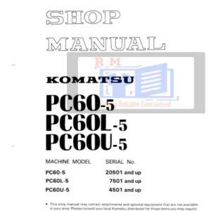 Komatsu Excavator PC – 5 All Workshop Manuals Collection