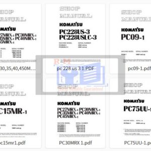 Komatsu Excavator PC -1 All Workshop Manuals Collection