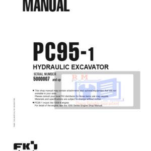 Komatsu PC95-1 Excavator Workshop Manual