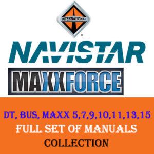 International Navistar DT, BUS, MAXX 5,7,9,10,11,13,15 Manuals Collection