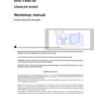 Service manual DC180.B New Holland Crawler Dozer Service Manual