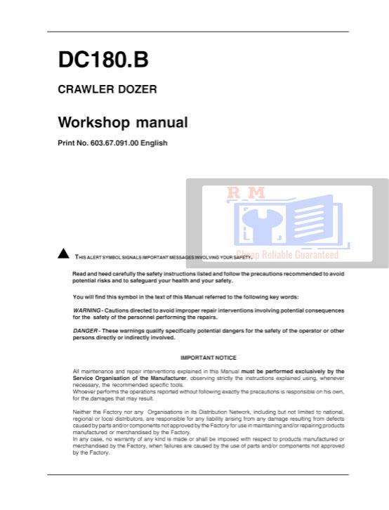 New Holland DC180.B Service Manual