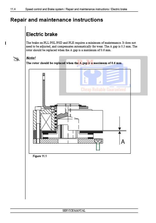Nissan Forklift PSD Service Manual