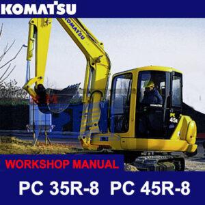 Komatsu PC35R-8 PC45R-8 Excavator Workshop Manual