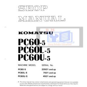 Komatsu PC60-5 Excavator Workshop Manual