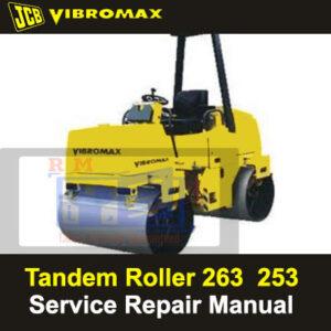 JCB Vibromax 253 263 Tandem Roller Service Repair Manual