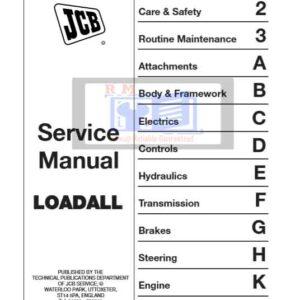 JCB 520 and 526 Series Loadall Service Repair Manual